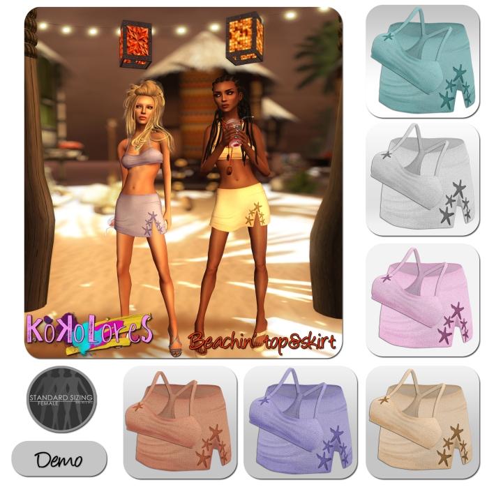 Beachin-top&skirt-Vendor
