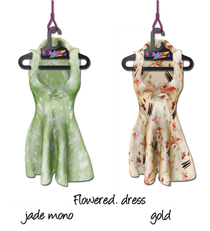 Flowered-dresses-jade-und-gold