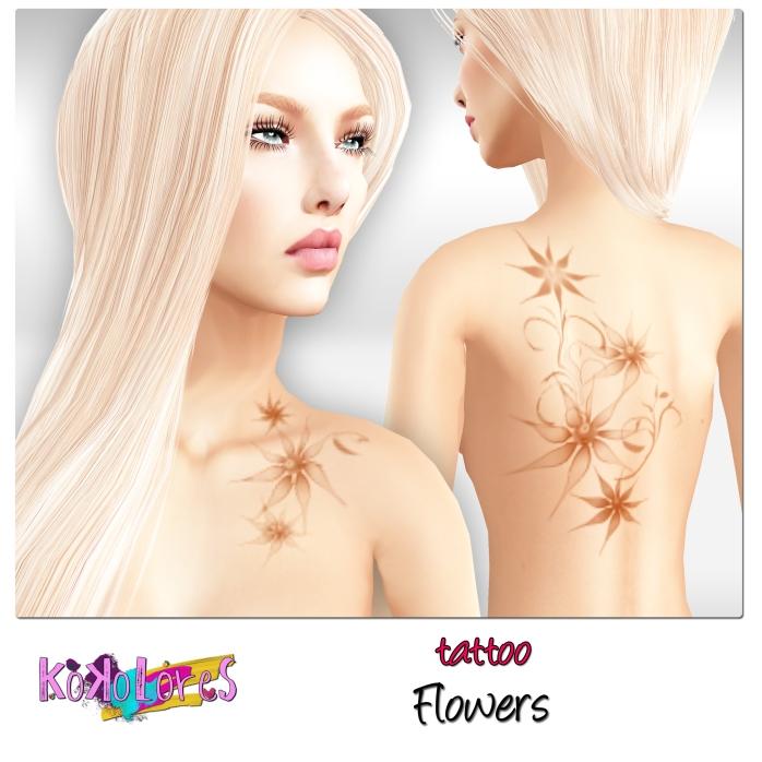 [KoKoLoReS]-tattoo---Flowers