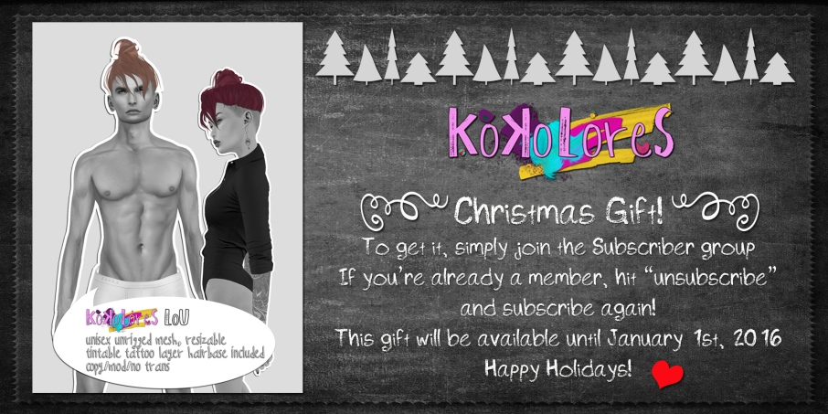 [KoKoLoReS] Hair - Lou - Christmas Gift 2015