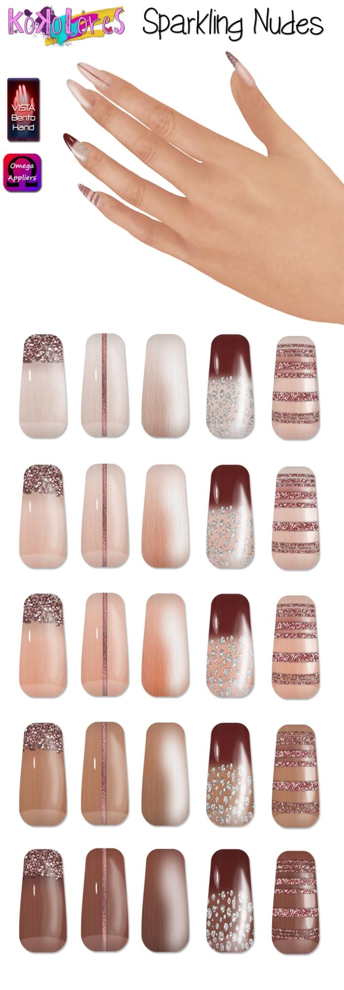 [KoKoLoReS] Sparkling Nudes nail appliers