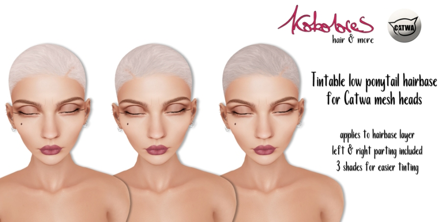 [KoKoLoReS] Tintable low ponytail hairbase - Catwa