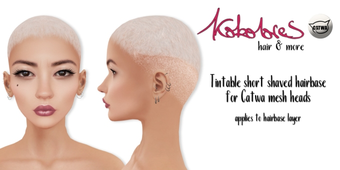 [KoKoLoReS] Tintable short shaved hairbase - Catwa